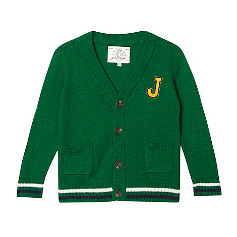 J by Jasper Conran - Designer boy's green college cardigan