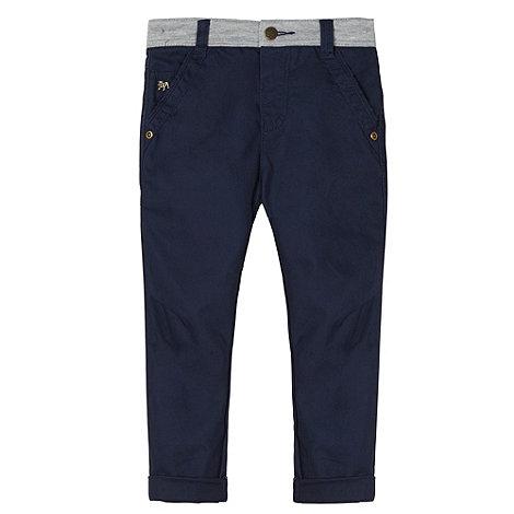 J by Jasper Conran - Designer boy+s navy jersey waist chinos