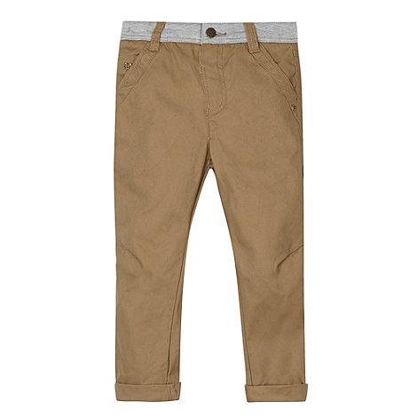 J by Jasper Conran - Designer boy+s beige jersey waist chinos
