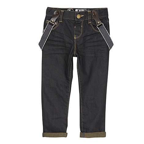 RJR.John Rocha - Designer boy+s dark blue jeans with braces
