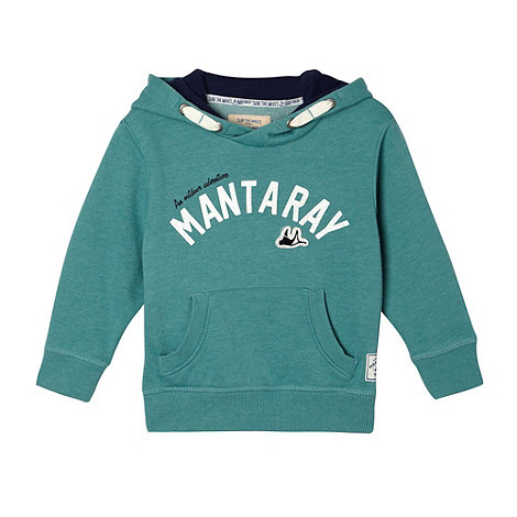 Mantaray - Boy+s green printed logo hoodie