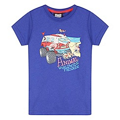 Animal - Boy's purple van logo t-shirt