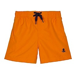 bluezoo - Boy's orange drawstring swim shorts