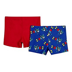 bluezoo - Pack of two boy's blue dog swim trunks