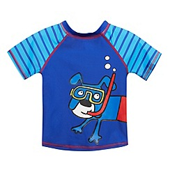 bluezoo - Boy's dark blue dog printed rash t-shirt
