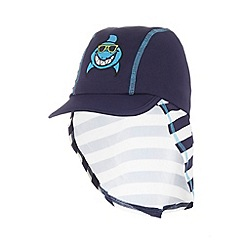 bluezoo - Boy's white striped shark cap