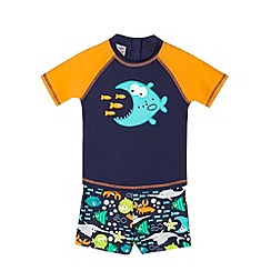 bluezoo - Boy's navy fish top and shorts