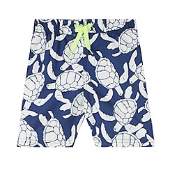 bluezoo - Boy's navy turtle shorts