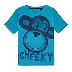 bluezoo - Boy's blue monkey print t-shirt