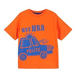 bluezoo - Boy's orange police car printed t-shirt