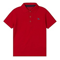 bluezoo - Boy's red pique polo shirt