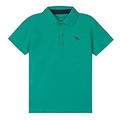 bluezoo - Boy's green pique polo shirt