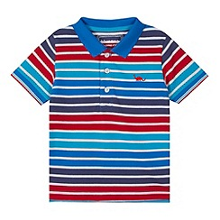 bluezoo - Boy's blue striped polo shirt