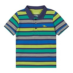 bluezoo - Boy's grey striped polo shirt