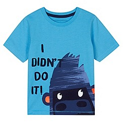 bluezoo - Boy's blue gorilla print t-shirt
