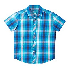 bluezoo - Boy's blue tonal checked shirt