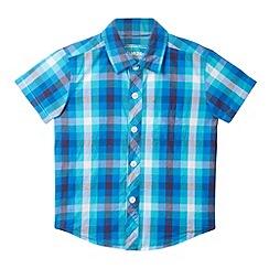 bluezoo - Boy's blue tonal checked shirt