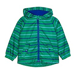bluezoo - Boy's green striped lightweight jacket