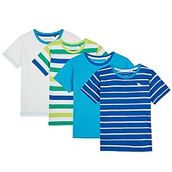 bluezoo - Pack of four boy's striped t-shirts