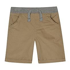 bluezoo - Boy's beige ribbed waist chino shorts