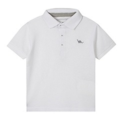 bluezoo - Boy's white pique polo shirt