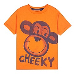 bluezoo - Boy's orange monkey print t-shirt