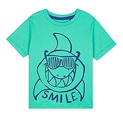 bluezoo - Boy's bright green shark t-shirt