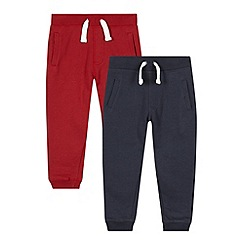 bluezoo - Pack of two boy's red drawstring jogging bottoms