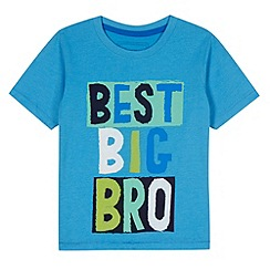 bluezoo - Boy's blue 'Best big bro' t-shirt