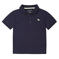 bluezoo - Boy's navy pique polo shirt