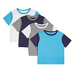 bluezoo - Pack of four boy's white raglan t-shirts