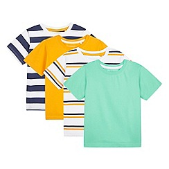 bluezoo - Pack of four boy's white t-shirts