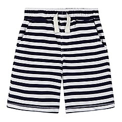bluezoo - Boy's navy striped jersey shorts
