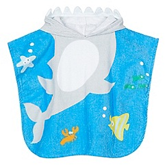 bluezoo - Boy's blue shark poncho