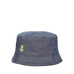 bluezoo - Boy's blue denim fisherman hat