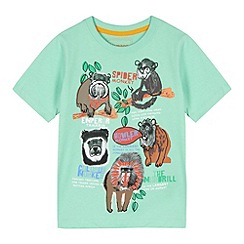 bluezoo - Boy's green monkey print t-shirt