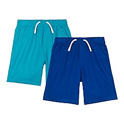 bluezoo - Pack of two boy's green shorts