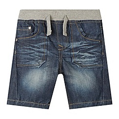 bluezoo - Boy's blue ribbed waist denim shorts