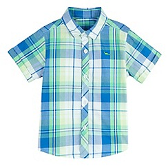 bluezoo - Boy's yellow checked shirt