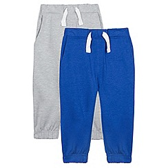 bluezoo - Pack of two boy's blue and grey jogging bottoms