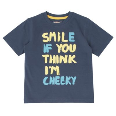 Boys Navy Smile T-shirt