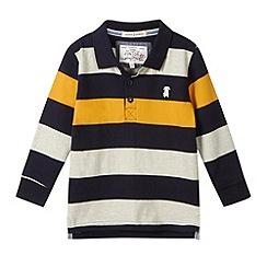 J by Jasper Conran - Designer boy's yellow block striped polo shirt