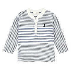J by Jasper Conran - Designer boy's white striped button neck top