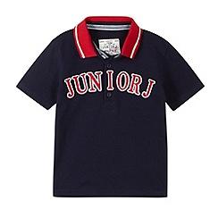 J by Jasper Conran - Designer navy logo polo shirt