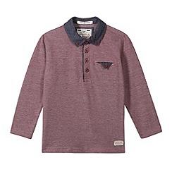 J by Jasper Conran - Designer boy's wine pique polo shirt