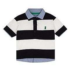 J by Jasper Conran - Designer boy's navy striped mock 2-in-1 rugby shirt
