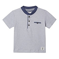 J by Jasper Conran - Designer boy's blue fine striped t-shirt