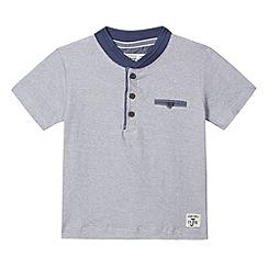 J by Jasper Conran - Designer boy's blue fine striped t-shirt
