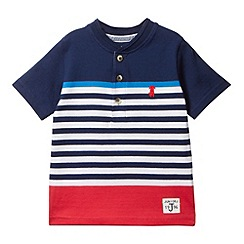 J by Jasper Conran - Designer boy's navy graduating striped t-shirt