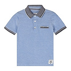 J by Jasper Conran - Designer boy's pale blue contrast collar polo shirt